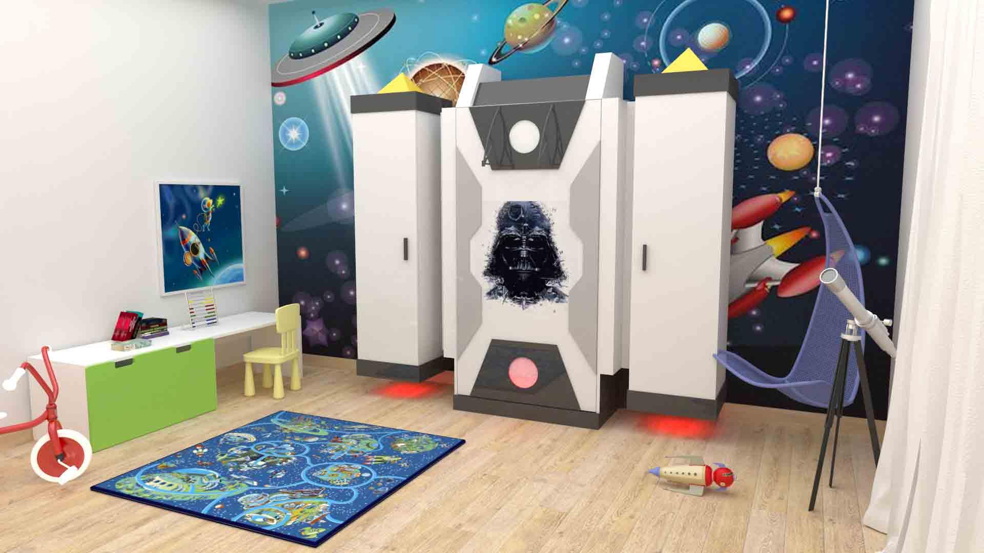 Mobili su misura per bambini camera per bambini star wars for Mobili per camera ragazzi