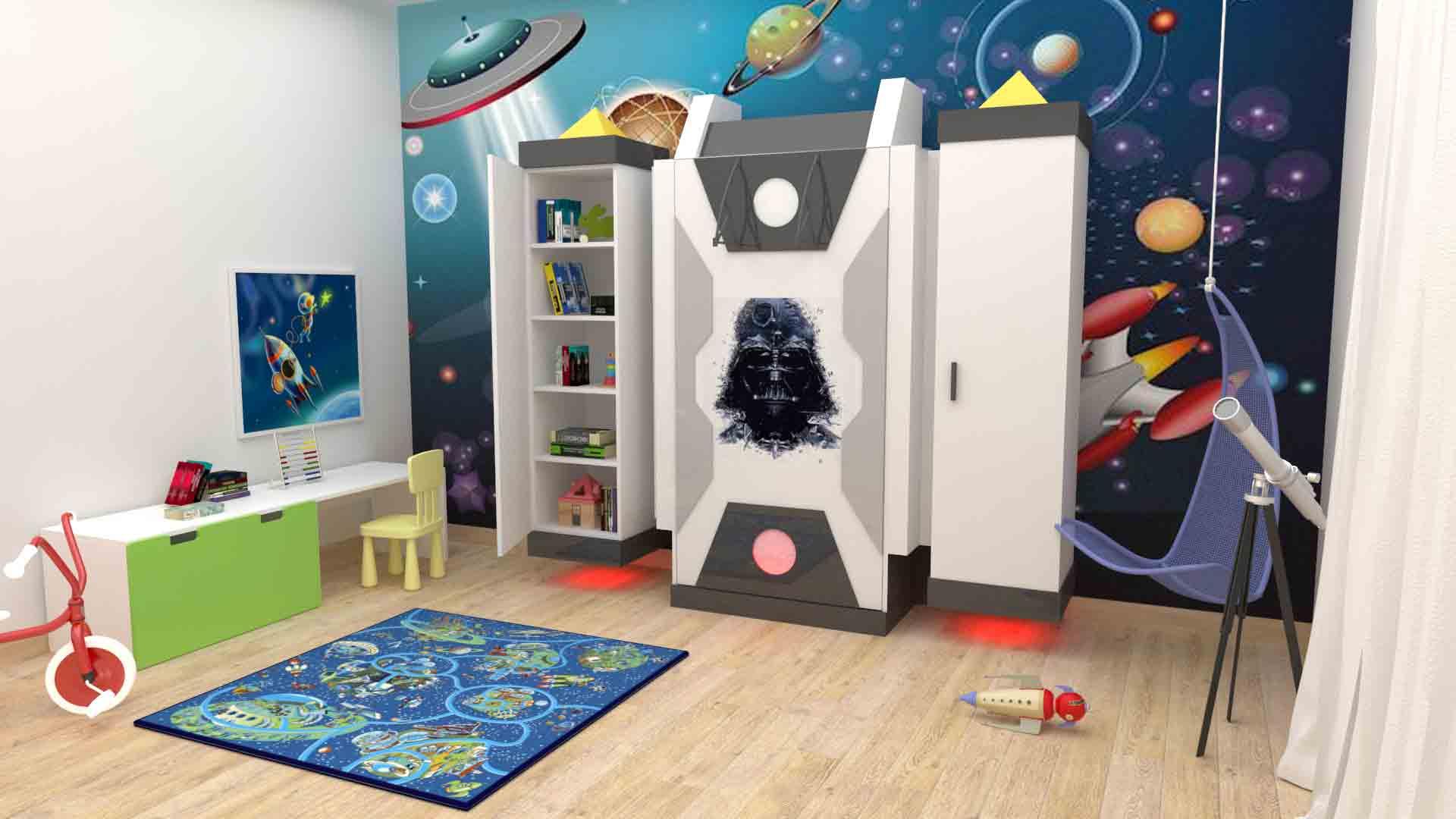 Camera Da Letto Star Wars : Mobili su misura per bambini camera per bambini star wars