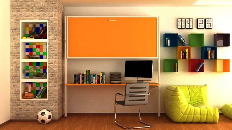 Horizontalni povišeni krevet sa fiksnim stolom - ZPS 90, prodaja horizontalno...